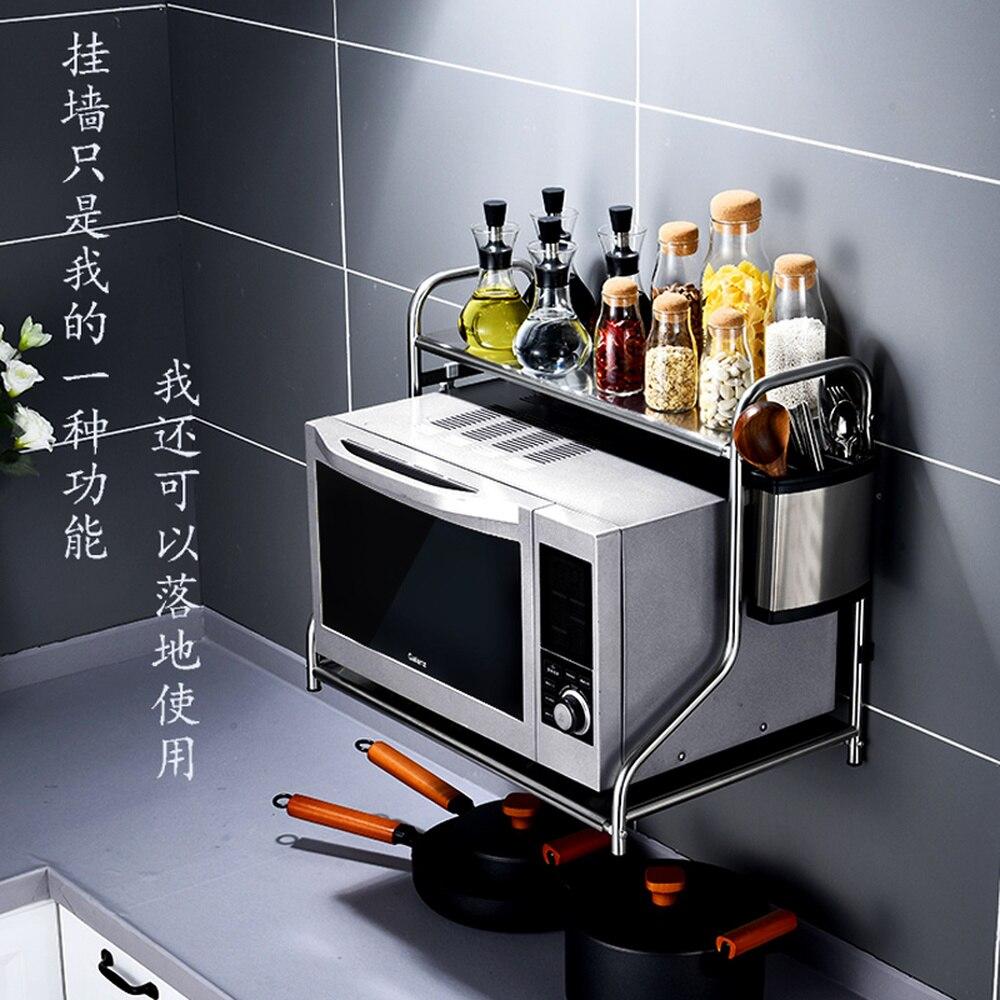 الحائط المايكرويف السلع الجرف المطبخ الفولاذ المقاوم للصدأ 2 الطبقة جدار معلقة نوع الفرن رف الكهربائية طباخ الجرف