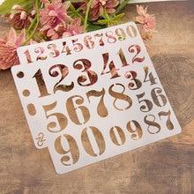 "13cm 5.1"" Number Digit 0-9 DIY Layering Stencils Painting Scrapbook Coloring Embossing Album Decorative Card Template"