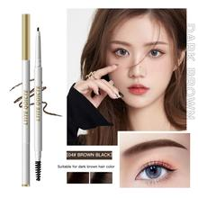2 In 1 Eyebrow Pencil 5 Colors Double-headed Automatic 3D Eyebrow Pen Waterproof Lasting Natural Eye