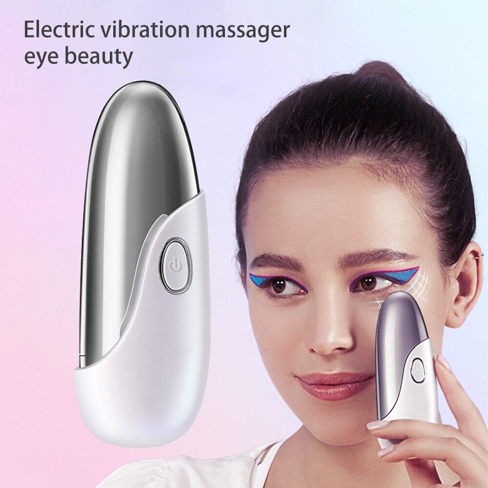 Electric Eye Beauty Massager Hot Compress Vibration Massage Portable Eye Care Pen Facial Lift Anti Wrinkle Remove Dark Circles
