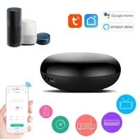 Tuya     telecommande universelle a infrarouge  wi-fi  pour maison connectee  compatible avec TV  DVD  AUD  AC  fonctionne avec Alexa et Google Home