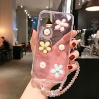 clear cute 3d little daisies flower soft phone case for samsung note 20 10 9 8 pro s20 s10 s9 s8 ultra plus lite cover