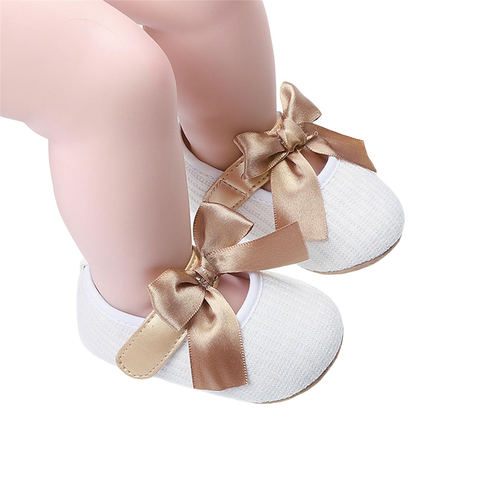 Обувь для новорожденных принцесс с бантом, Детские ажурные туфли с крючком и петлей, белые, серые, розовые, красные, черные