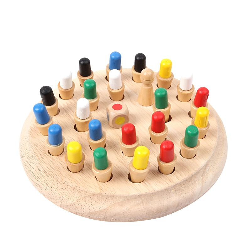 colorful cognition board kids montessori educational toy children wooden jigsaw color match game board puzzles child wooden toy Montessori Educational Toys Kids Wooden Memory Match Stick Chess Game Fun Block Board Game Child Color Cognitive Ability Toy