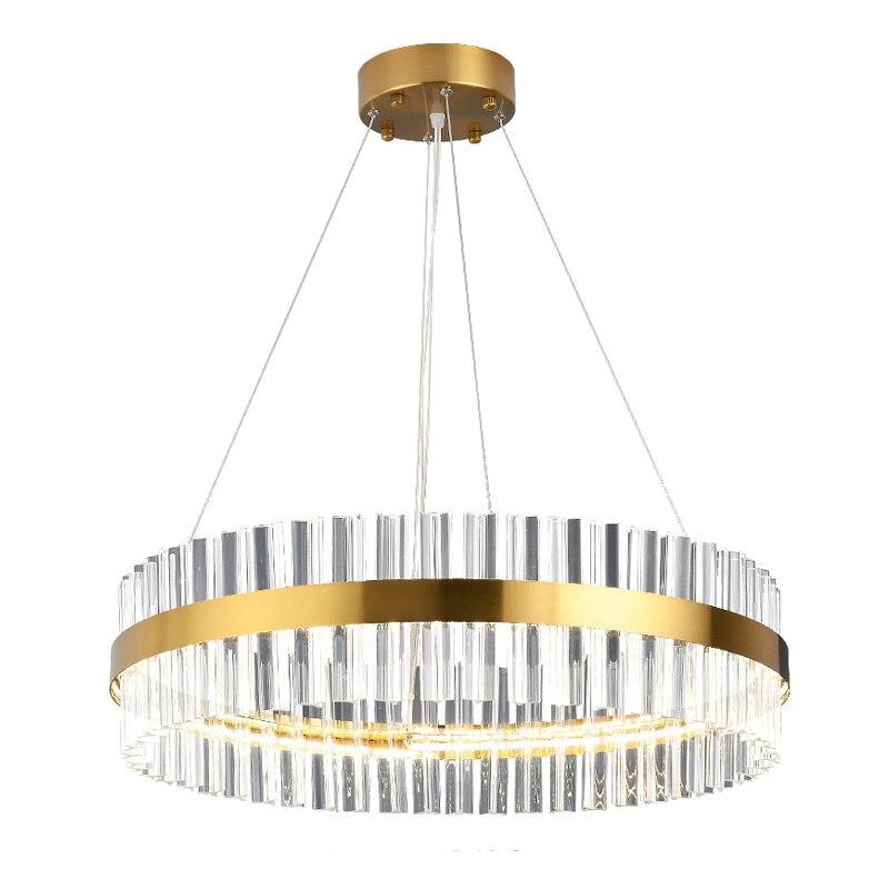 وشملت LED قطاع آخر-الحديثة الذهبي جولة داخلي LED قلادة ضوء مع عالية الجودة الكريستال في غرفة المعيشة الطعام غرفة (DZ-15)