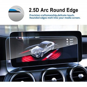 Car Navigation Screen Protector for Benz 2019 2020 C-Class W205 10.25 Inch Tempered Glass  Audio Infotainment  Protective Film