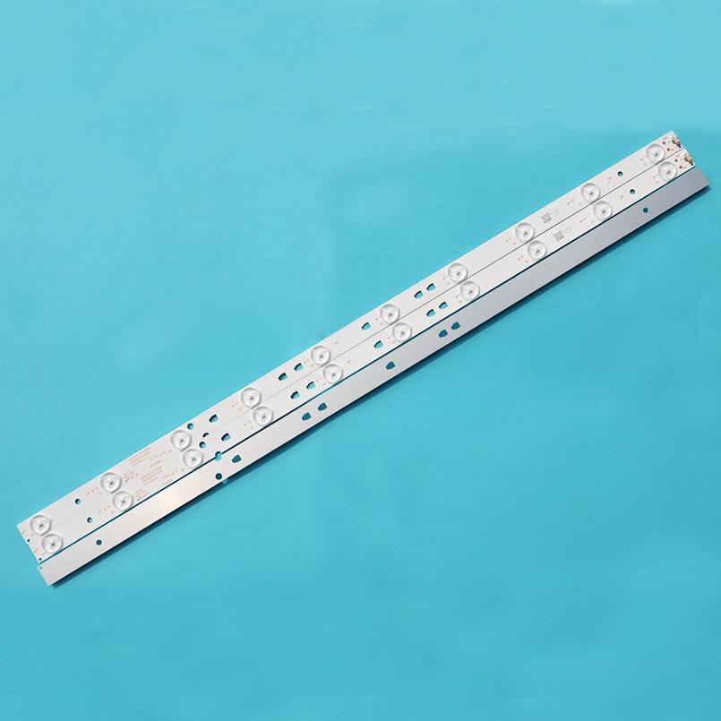 Nuevo 6 uds 10LEDs, 635mm tira de LED para iluminación trasera para 32PAL535 LE32B310N LED315D10-07(B) 30331510219 LED315D10-ZC14-07(A) 30331510213