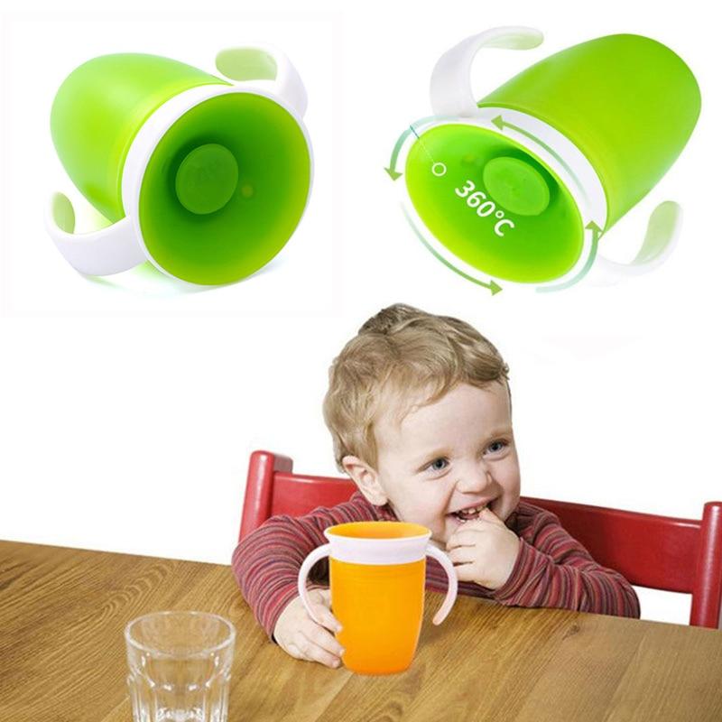 Детская силиконовая 360 герметичная Питьевая чашка, детская чашка, антиударная чашка для воды, детская развивающая Питьевая чашка