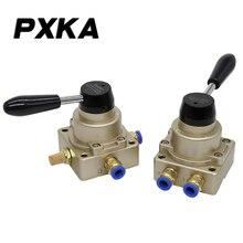 Vanne rotative manuelle HV200D   Interrupteur pneumatique, vanne inversée commande de cylindre un-en-et deux sorties, vanne à main 02B livraison gratuite