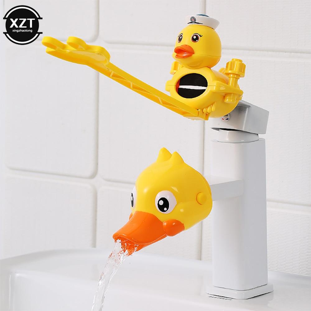 Cartoon Faucet Extender For Kids Hand Washing In Bathroom Sink Animals Accessories Kitchen Convenien