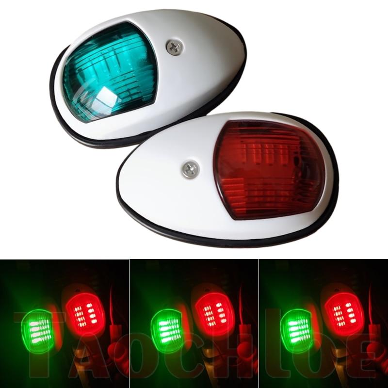 2Pcs 12V 24V LED Running Lights For Boat Signal Lamp Marine Navigation Light Yacht Accessories Red Green Truck Trailer Lamps
