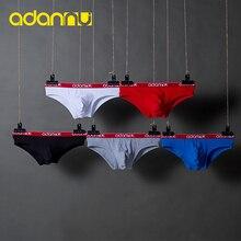 Nouveautés ADANNU hommes sous-vêtements Sexy slips coton homme culottes élasticité U poche hommes caleçons hommes slips 5 couleur AD41