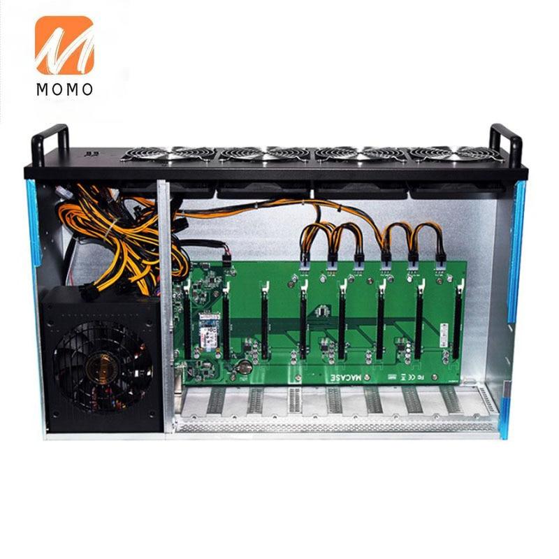 TZM08S 8gpu جهاز تعدين جهاز تعدين Ethereum Minig آلة التعدين مع 2300 واط PSU