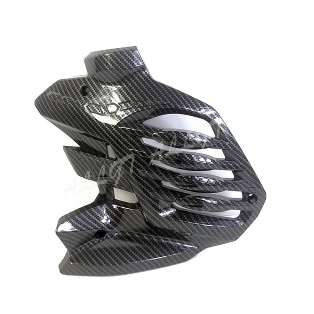 غطاء مبرد بلاستيك ABS مطبوع ، ألياف الكربون لدراجة نارية ياماها NMAX155 2020
