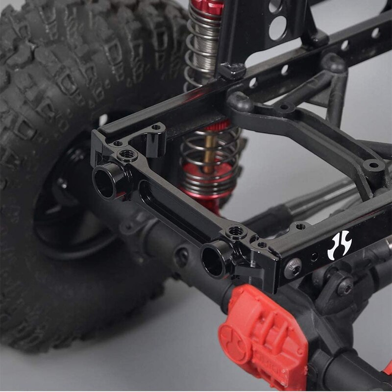 Aluminum Alloy Front Rear Rail Bumper Mounts with Front Servo Mounts for 1/10 RC Crawler Axial SCX10 II 90046 90047 enlarge