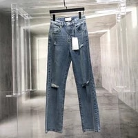 customized micro stretch cotton fabric ladies jeans