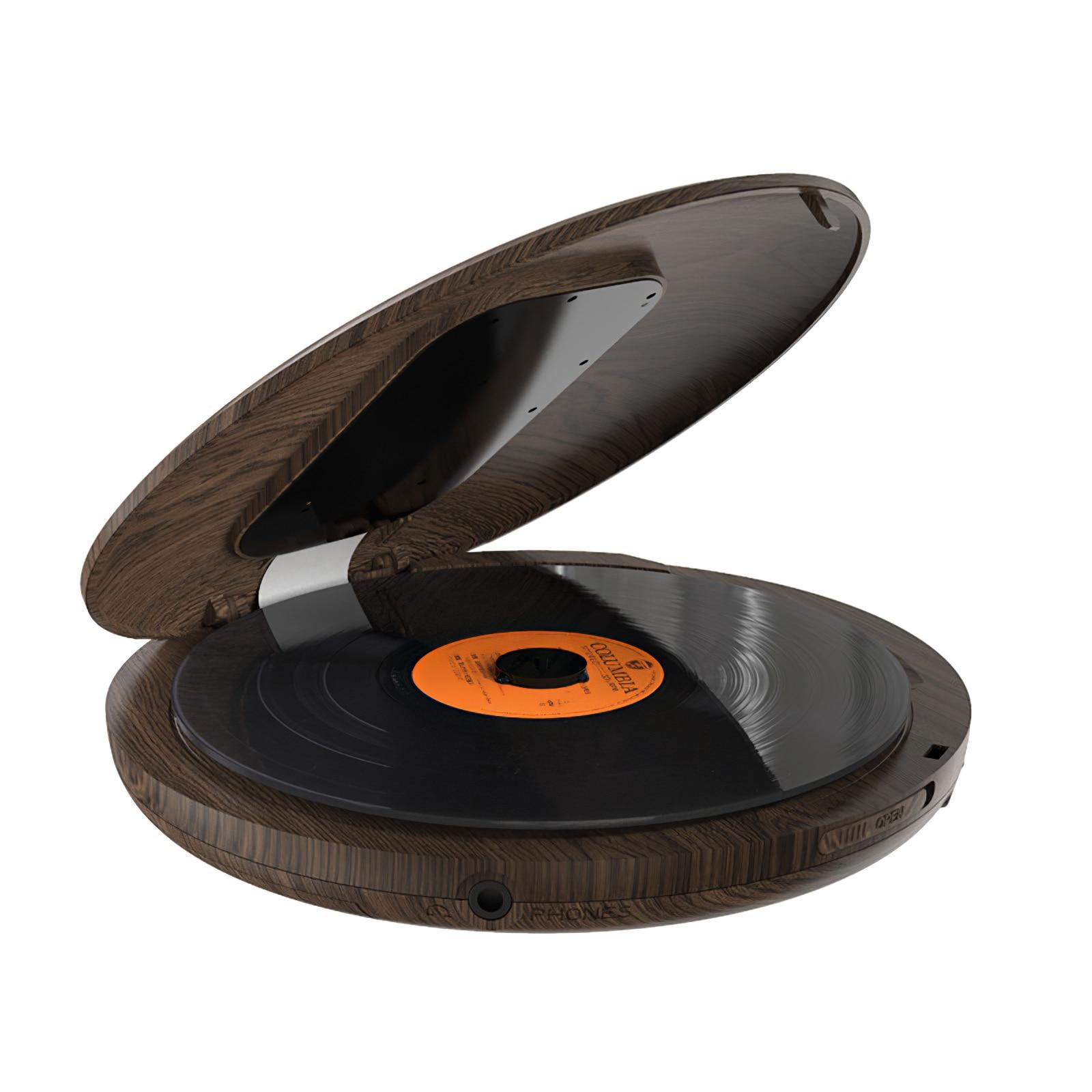 بلوتوث المحمولة مشغل أقراص مضغوطة التعلم وكمان للمنزل السفر سيارة مع سماعة رأس ستيريو مشغل أقراص مضغوطة 3.5 مللي متر الصوت جاك ألبوم لاعب
