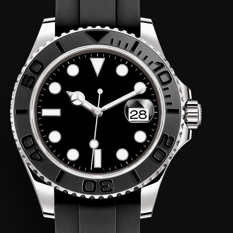 Automatic Mechanical Watch men 44MM Yacht-Master 226659 New 1:1 Best Edition Ceramic Bezel Black Rubber Strap Rose Gold