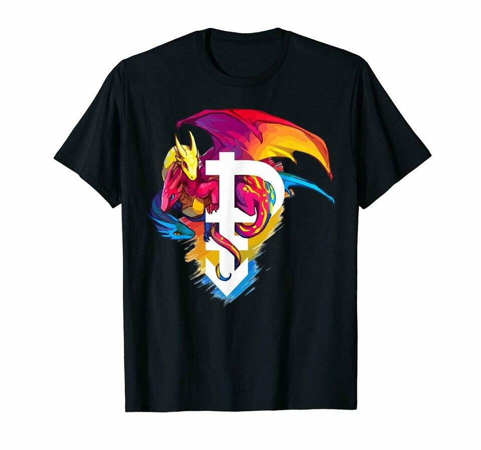 Pansexual orgullo mes 3 dragones 50Th Stonewall Lgbtq divertida camiseta negra S-3Xl camiseta de moda