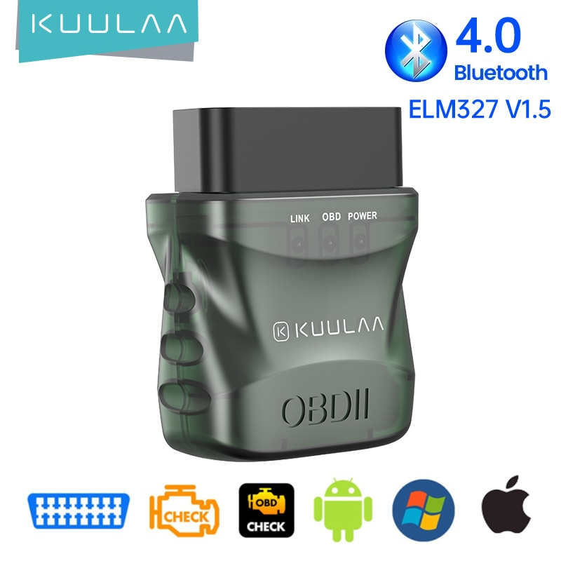 Автомобильный сканер KUULAA OBD2 ELM327 V1.5 прошивка 1,5, тестер, инструменты OBD 2, Автомобильный сканер, комплект Bluetooth 4,0, автомобильный диагностическ...