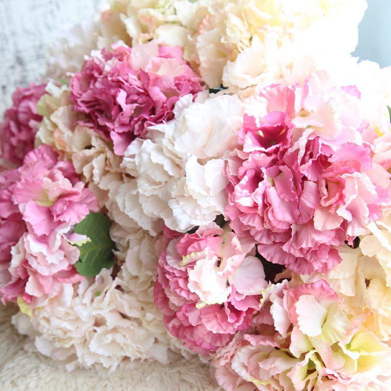 Flores artificiales Hortensia de la serie coreana, decoración para el hogar, decoración...