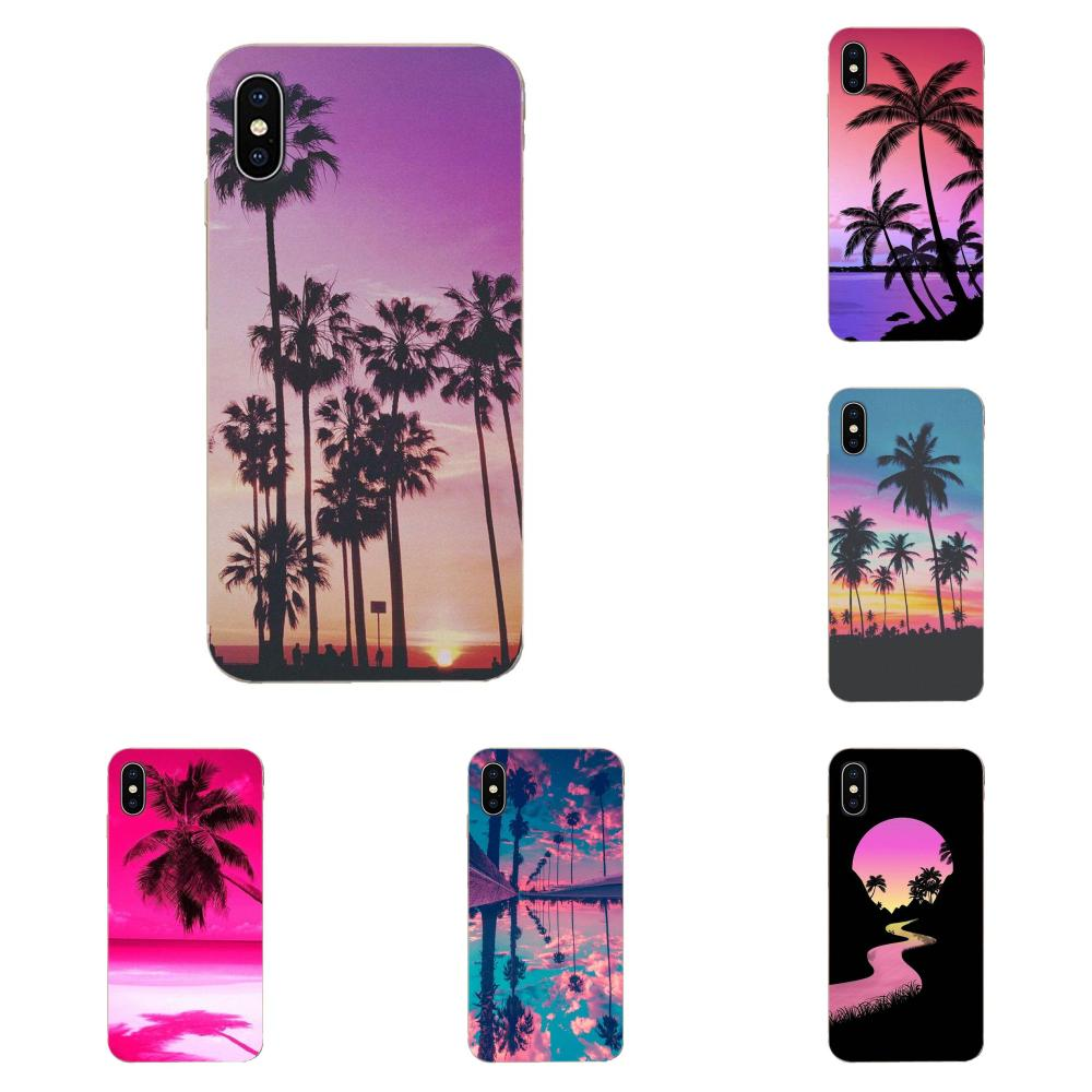 Palmeras de playa de verano de estilo colorido de teléfono Quinn suave para Huawei Mate 9 10 20 P P8 P9 P10 P20 P30 P40 Lite Pro Smart 2017