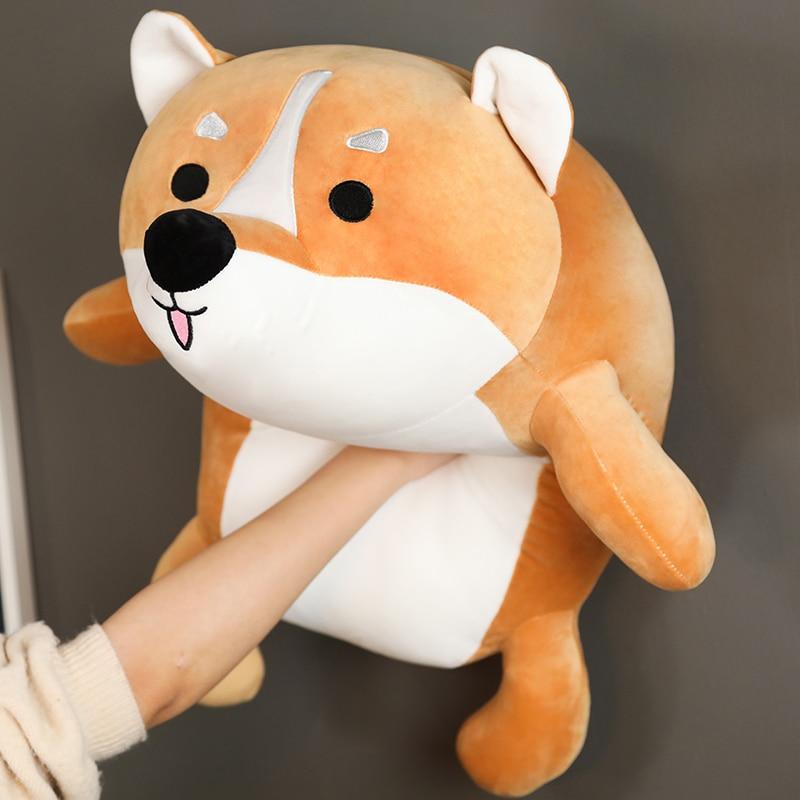 Lindo Shiba Inu juguetes de peluche de perros de peluche de dibujos animados abajo de algodón Animal muñeca suave perro almohada de felpa niños niñas Kawaii regalo de Navidad juguete