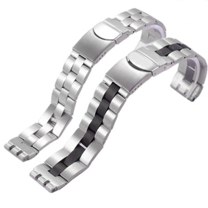 New 20*22MM Solid Stainless Steel Watchband For Swatch Metal Watch Man's Silvery Middle Black Bracelet Free Tools With logo