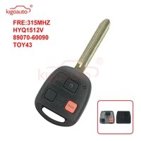 kigoauto hyq1512v89070 60090 remote head key 3 button 315mhz no chip toy43 blade for toyota land cruiser