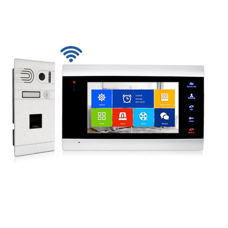 Tuya smart video doorbell with fingerprint scanner entry door intercom system