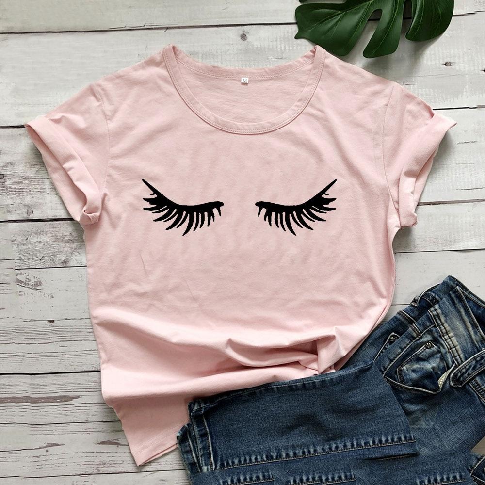 Camiseta feminina com manga curta, t-shirt feminina de algodão, com gola em o, manga curta, preta e branca, casual, solta