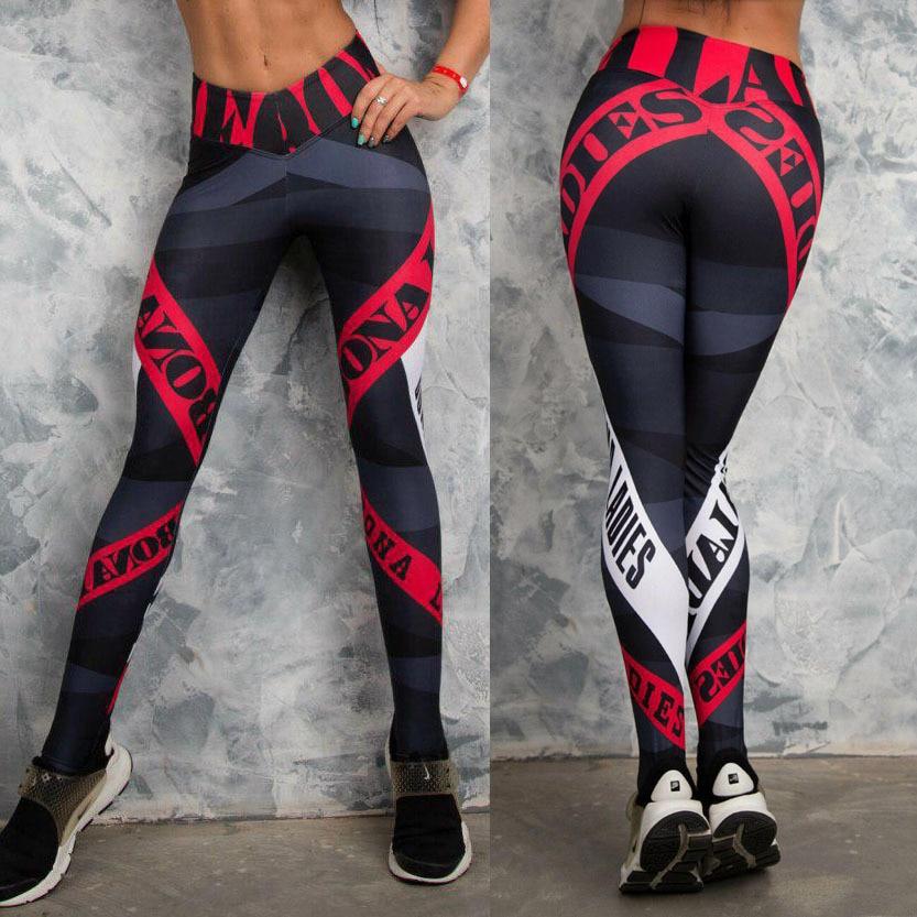 Sexy Women Yo-ga Pants Women Leggings Workout Sports Running Leggings Sexy Push Up Gym Wear High Waist Fringe Elastic Slim Pants
