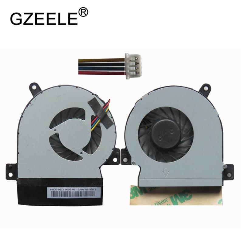 New cpu Laptop cooling fan para ASUS Eee PC 1215 1215N VX6 1215CT 1215B 1215T Notebook Cooler Do Processador Do Computador 4 pin