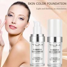 30ml Color Changing Foundation TLM Makeup Base Liquid Nude Face Cover Concealer Long Lasting Makeup