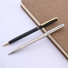 Di lusso di Alta qualità di marca nero opaco penna studente in acciaio dorato onda tecnologia di Incisione penna a Sfera Forniture Per Ufficio