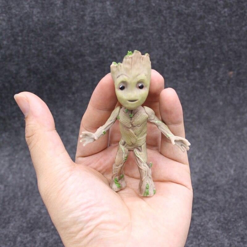 Marvel Guardians of The Galaxy Groot Мстители крошечные милые детские дерево человек Стенд Ver фигурку игрушки 10 см