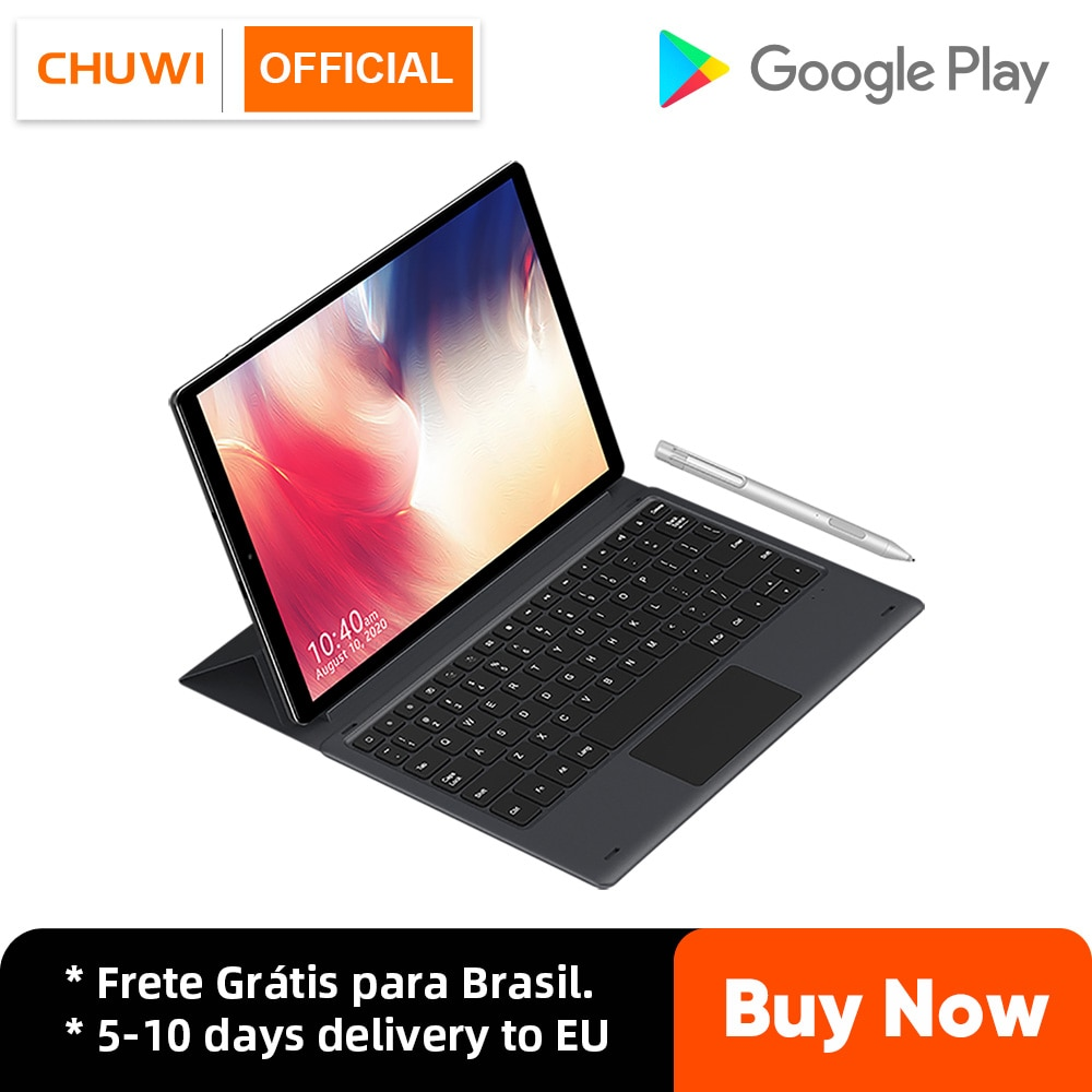 Get Tablet Android 10.0, CHUWI HiPad X, 10.1″ 1920*1200 Resolution, MT-8788 Octa Core, 4GB RAM, 128GB ROM, 4G LTE with Keyboard Pen