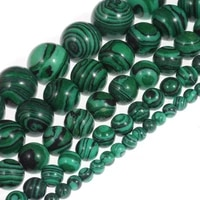 malachite loose beads natural gemstone smooth round for jewelry making
