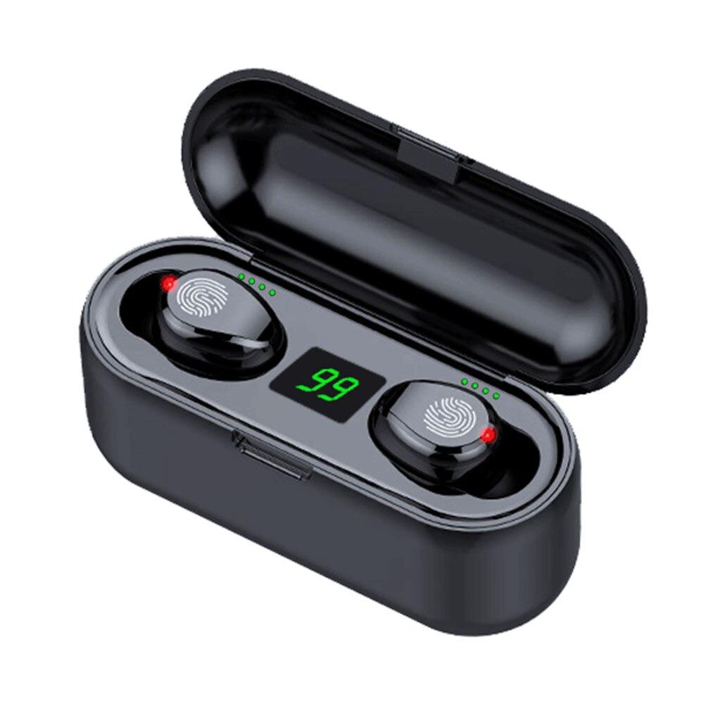 Botón Táctil estéreo auricular TWS reducción de ruido Binaural Mini 2000mah deporte bajo auriculares invisibles