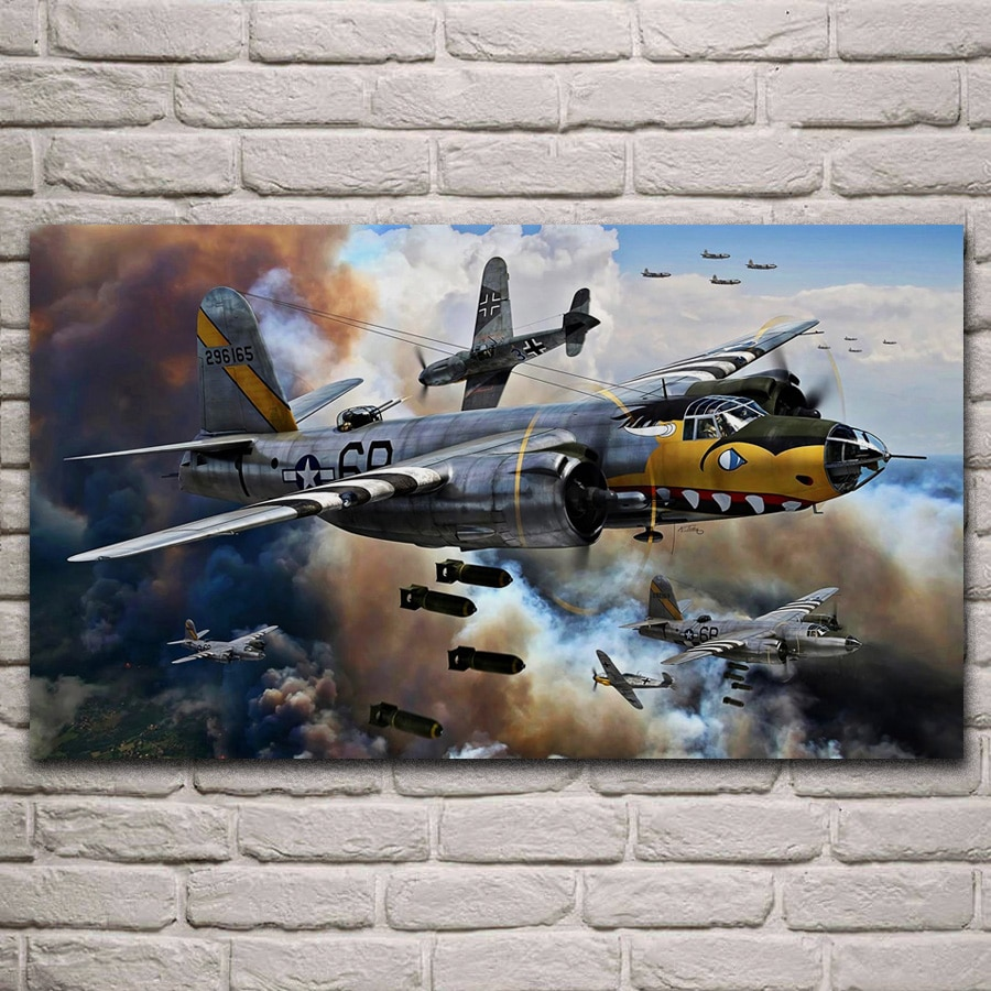 Aviões força aérea bombardeiro guerra avião arte sala de estar decoração da parede casa arte da parede posters kl893