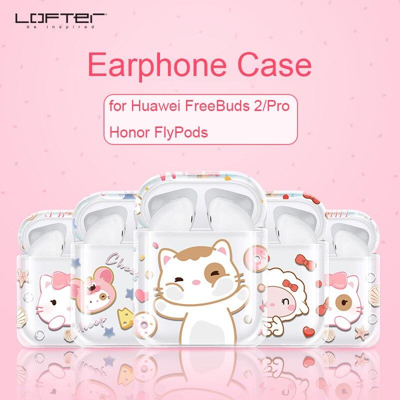 Fundas de auricular de cristal de dibujos animados para FlyPods de Honor para Huawei FreeBuds 2 Pro caja de carga de silicona suave antideslizante