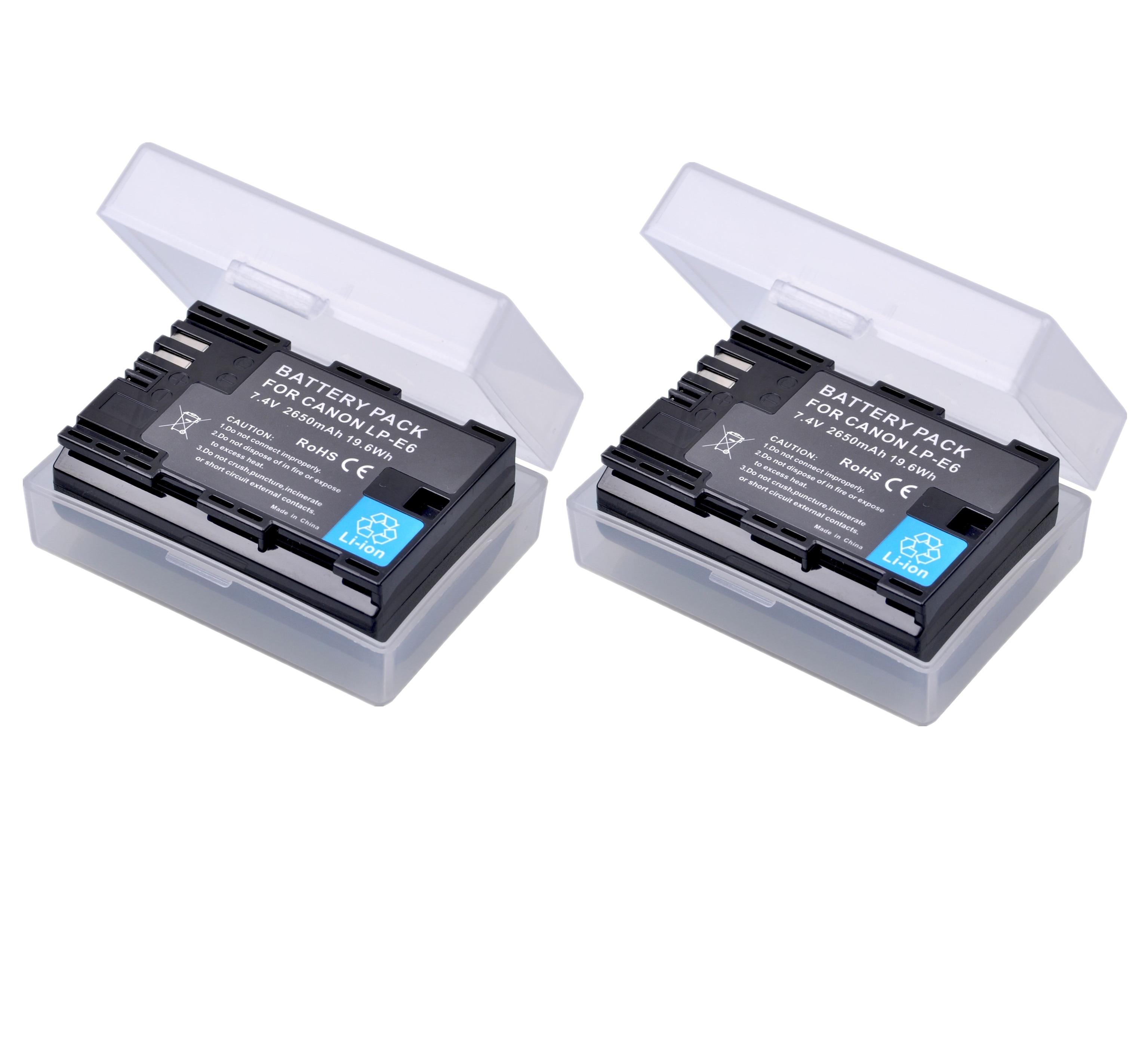 Batería de LP-E6 lpe6 LP E6 E6N para cámara, 2 baterías de...