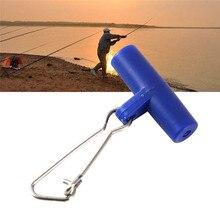 10 pièces/ensemble pinces à glisser pêche bleu rouge tête en plastique pivotant avec crochet Snap pêche poids glisser accessoires