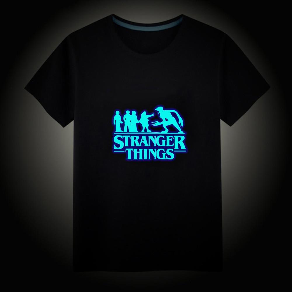 Serie de TV Riverdale extraño cosas hombres fluorescente luminoso camiseta Casual Unisex Tops chaleco camisetas de manga corta niños camiseta