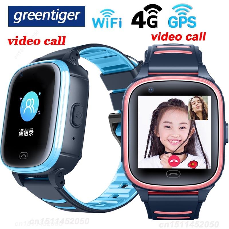 Greentiger A80 4G Child Smart Watch GPS WiFi SOS video call IP67 waterproof Camera Kids Smartwatch Baby Safe Tracker VS A36E Y95
