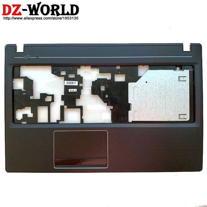 Novo original escudo palmrest caso superior teclado moldura capa com touchpad para lenovo g580 g585 portátil 90200433 am0n2000100