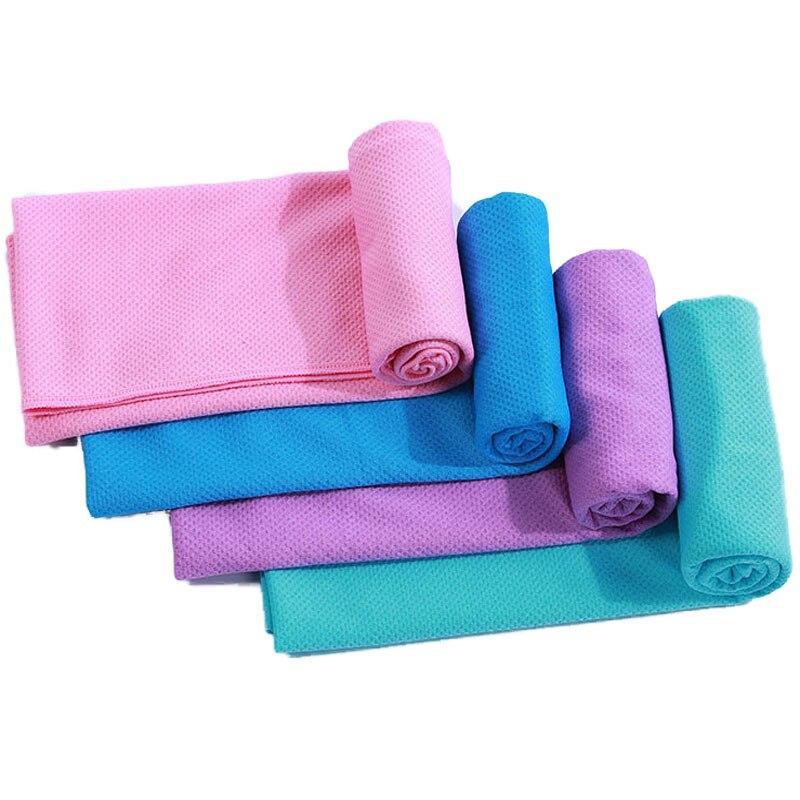 Sport Towel Outdoor Rapid Cooling Microfiber Quick-Dry Ice towel 30*80 cm Yoga yellow Enduring  face bath women men fashion