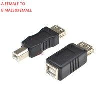 1PCS USB 2,0 Typ A auf B Stecker WEIBLICHE Adapter Für USB Drucker Quadrat der Öffentlichen Transfer joint