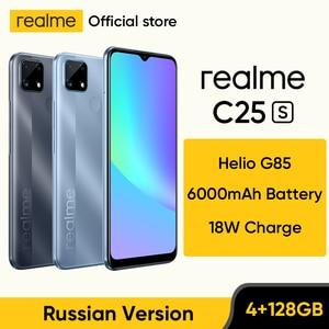 [World Premiere in Stock] realme C25s Russian Version Smartphone Heilo G85 Octa Core 48MP Camera 6000mAh Battery 4GB 128GB NFC