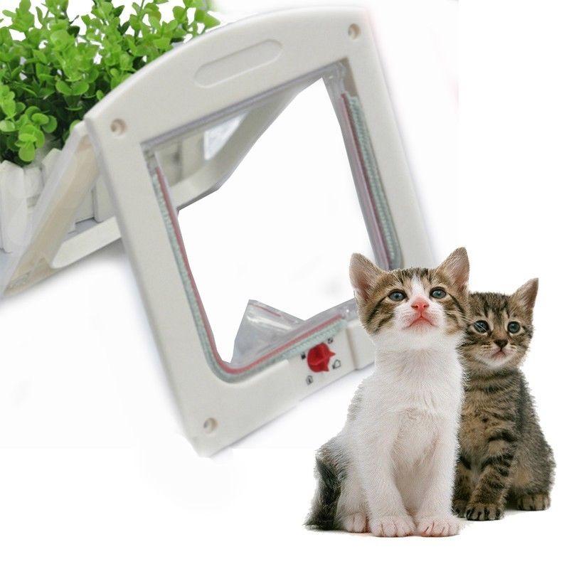 Control inteligente 4 vías Grande Mediano pequeño ABS mascota gato cachorro perro puerta solapa bloqueo puerta segura